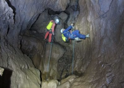 rappelling the Friuato cave