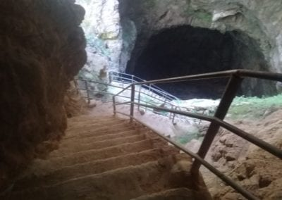 Entering the Friuato cave
